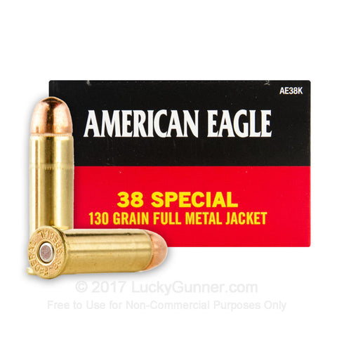 American Eagle .38 Special 130gr FMJ 50rds