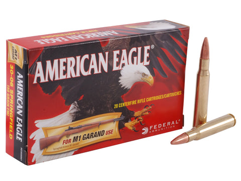American Eagle .30-06 SPRINGFIELD 150gr FMJ For M1 Garand - 20 Rounds