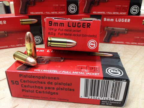 RUAG Geco 9mm LUGER 124gr FMJ - Case of 1000 Rounds
