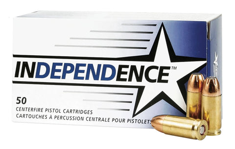 Federal Independence 9mm 115gr JHP 50rds