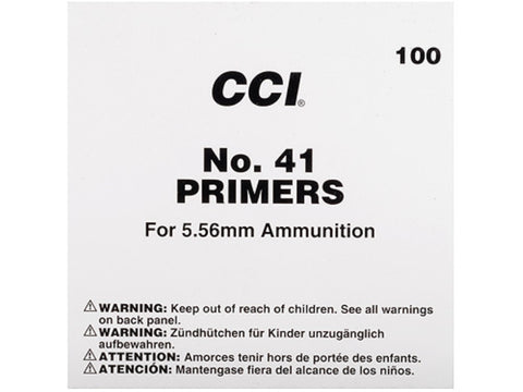 CCI No. 41 5.56mm Small Rifle Military Primers - Pack of 1000
