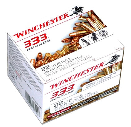 Winchester Bulk Rounds of .22 LR Ammo - 36gr HP