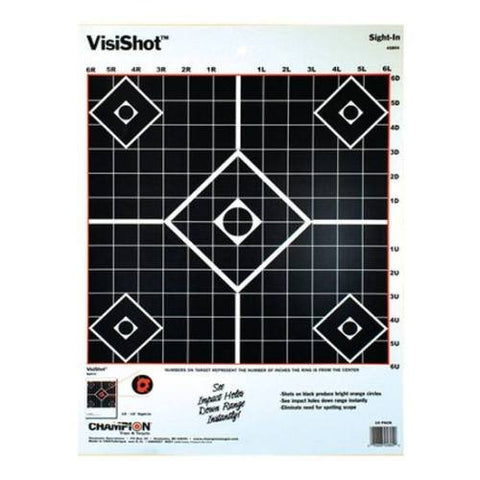 Champion VisiShot Sight-In Target (Pack of 10)