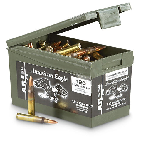 American Eagle 5.56x45mm NATO 62gr FMJ Pack of 120
