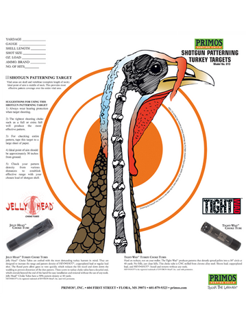 Primos Shotgun Patterning Turkey Target 12pk