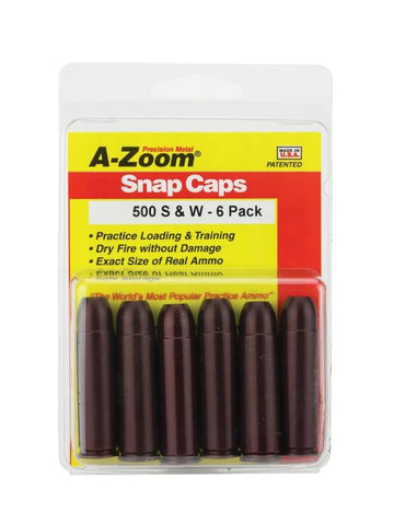 A-Zoom 500 S&W Snap Caps 6PK