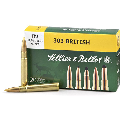 Sellier & Bellot - .303 British, 180gr, FMJ, Box of 20