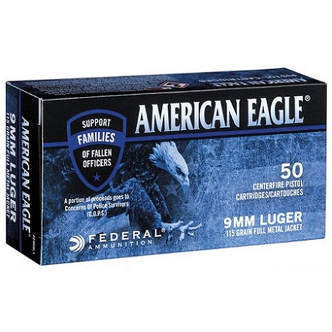 American Eagle C.O.P.S.-9mm Luger 115gr FMJ