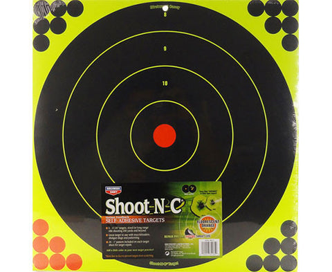 "Shoot-N-C Reactive Targets - 5 Targets 17.25"" Pack - Yellow Circle"