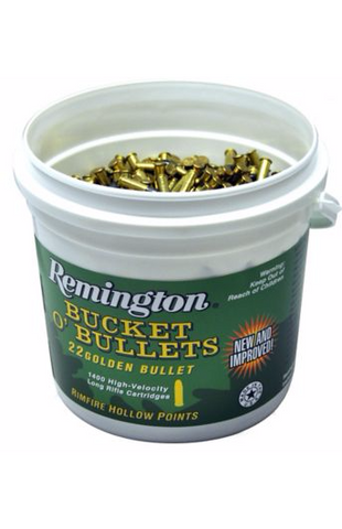 Remington Golden Bullet Bucket O'Bullets .22LR 36gr HP - 1400 Rounds