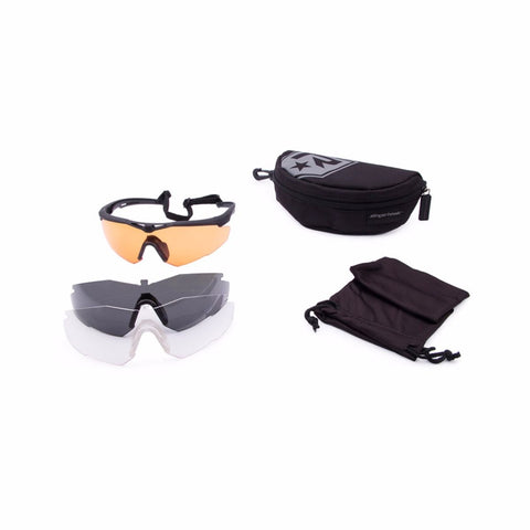 Revision Military StingerHawk Ballistic Eyewear - Shooter's Deluxe 3 lens Kit - Regular