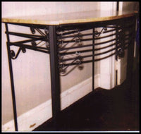Wrought Iron Table w/ Marble Top ***SOLD***