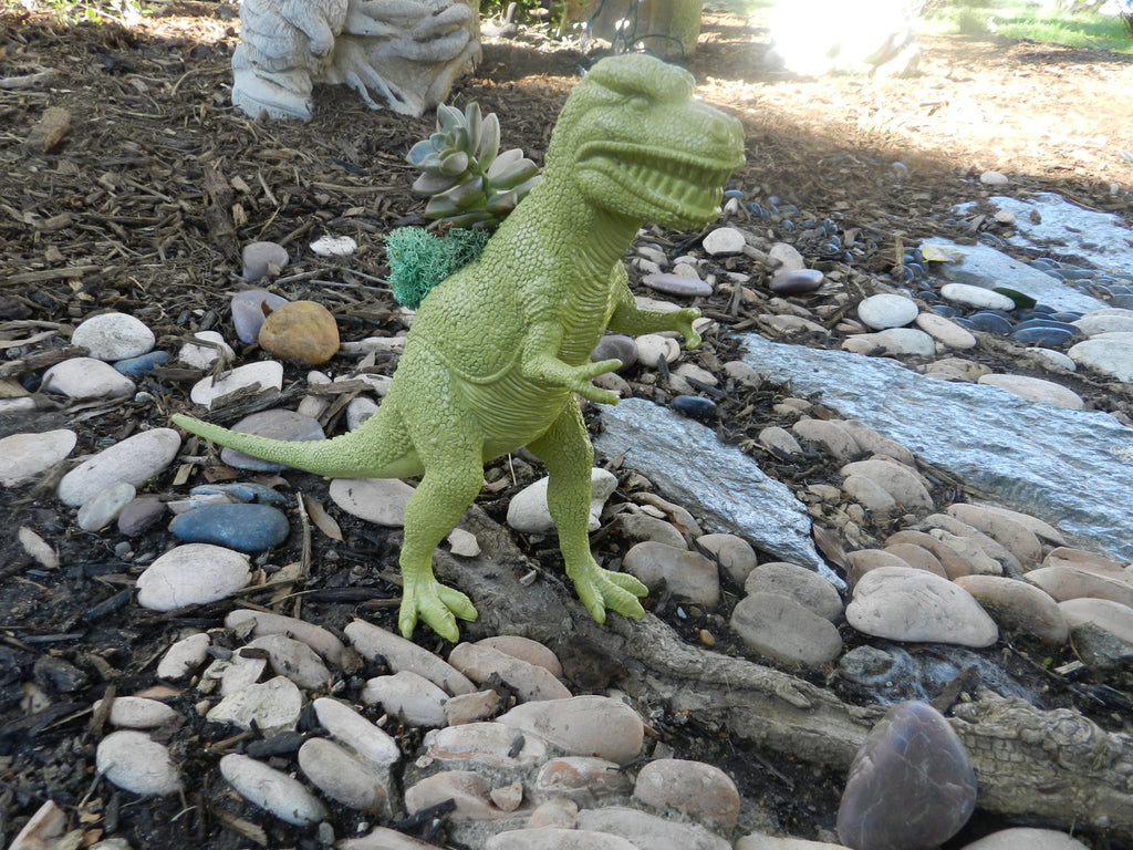 Green Tarbosaurus Planter