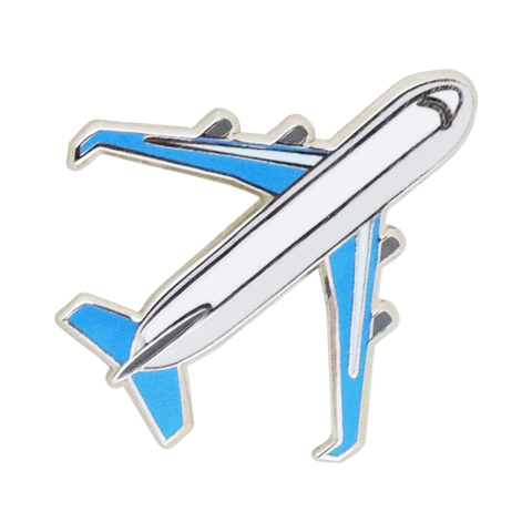 Airplane Emoji Pin - Emoji Pins | Emoji Keychains | Emoji Earrings | Emoji Gifts