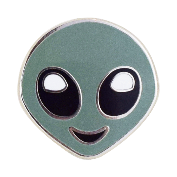 Alien Emoji Pin - Emoji Pins | Emoji Keychains | Emoji Earrings | Emoji Gifts