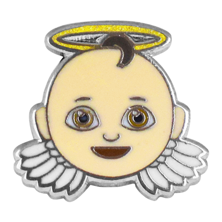 Angel Emoji Pin - Emoji Pins | Emoji Keychains | Emoji Earrings | Emoji Gifts