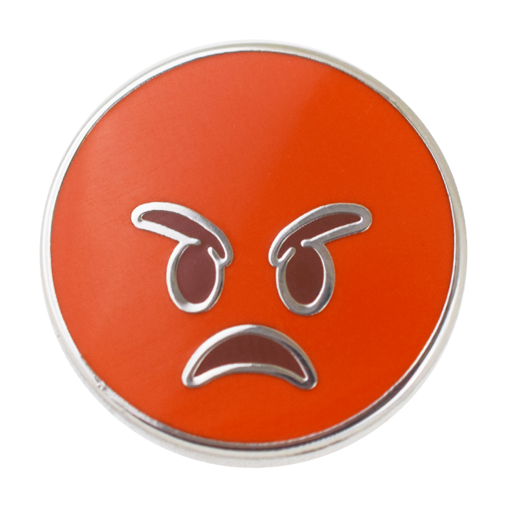 Angry Emoji Pin - Emoji Pins | Emoji Keychains | Emoji Earrings | Emoji Gifts