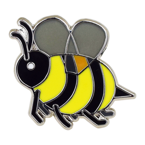 Bee Emoji Pin - Emoji Pins | Emoji Keychains | Emoji Earrings | Emoji Gifts
