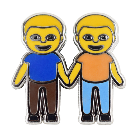 Boys Holding Hands Emoji Pin - Emoji Pins | Emoji Keychains | Emoji Earrings | Emoji Gifts