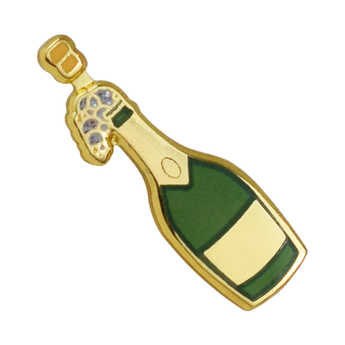 Champagne Emoji Pin - Emoji Pins | Emoji Keychains | Emoji Earrings | Emoji Gifts