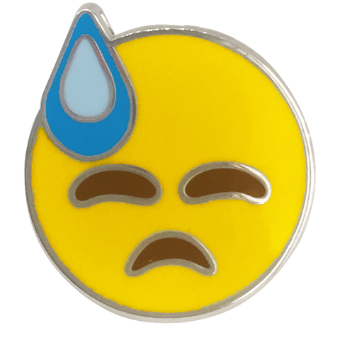 Cold Sweat Emoji Pin - Emoji Pins | Emoji Keychains | Emoji Earrings | Emoji Gifts