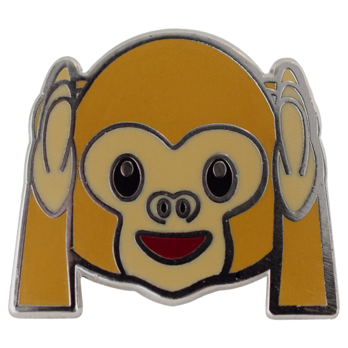 Hear No Evil Monkey Emoji Pin - Emoji Pins | Emoji Keychains | Emoji Earrings | Emoji Gifts
