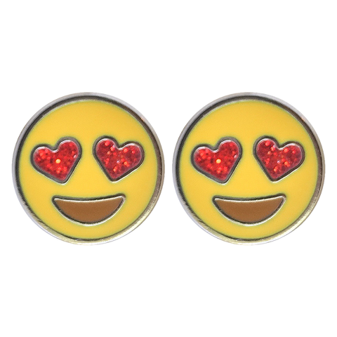 Heart Eyes Emoji Earrings - Emoji Pins | Emoji Keychains | Emoji Earrings | Emoji Gifts