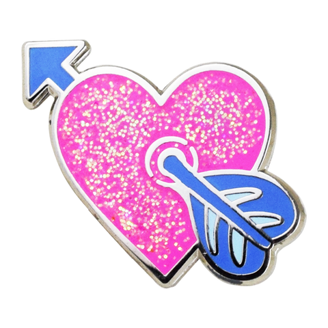 Heart with Arrow Emoji Pin - Emoji Pins | Emoji Keychains | Emoji Earrings | Emoji Gifts