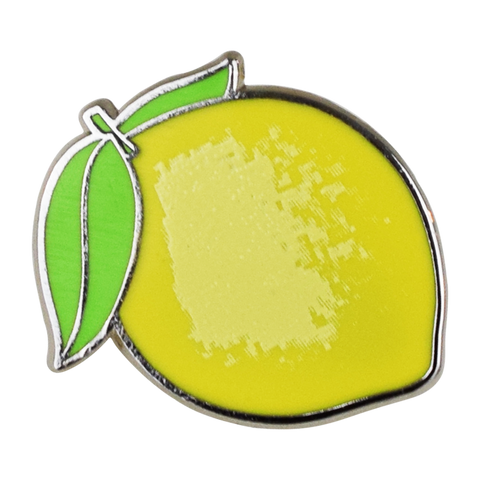 Lemon Emoji Pin - Emoji Pins | Emoji Keychains | Emoji Earrings | Emoji Gifts