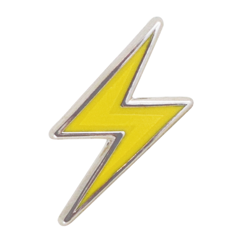 Lightning Bolt Emoji Pin - Emoji Pins | Emoji Keychains | Emoji Earrings | Emoji Gifts