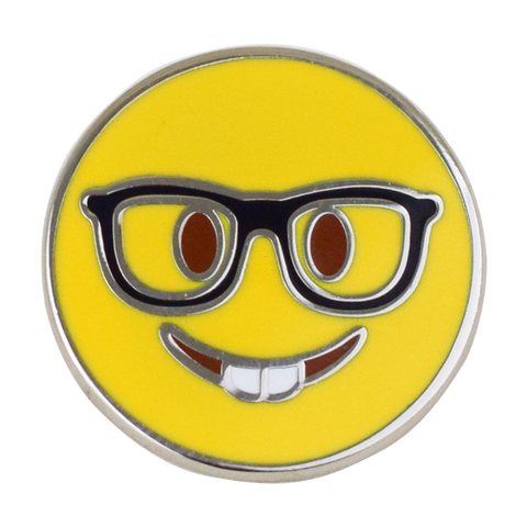 Nerd Emoji Pin - Emoji Pins | Emoji Keychains | Emoji Earrings | Emoji Gifts
