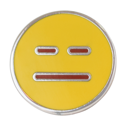 Neutral Emoji Pin - Emoji Pins | Emoji Keychains | Emoji Earrings | Emoji Gifts
