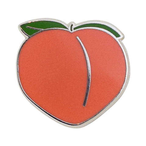 Peach Emoji Pin - Emoji Pins | Emoji Keychains | Emoji Earrings | Emoji Gifts