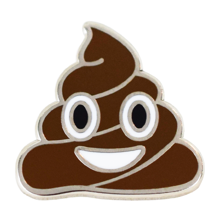 Poop Emoji Pin - Emoji Pins | Emoji Keychains | Emoji Earrings | Emoji Gifts