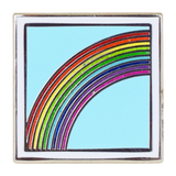 Rainbow Emoji Pin - Emoji Pins | Emoji Keychains | Emoji Earrings | Emoji Gifts