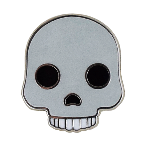 Skull Emoji Pin - Emoji Pins | Emoji Keychains | Emoji Earrings | Emoji Gifts