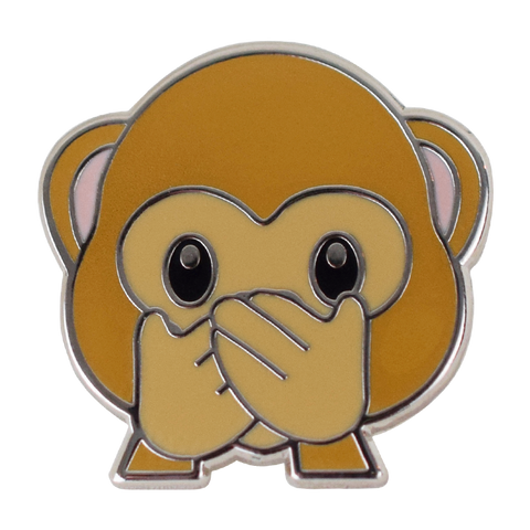 Speak No Evil Monkey Emoji Pin - Emoji Pins | Emoji Keychains | Emoji Earrings | Emoji Gifts