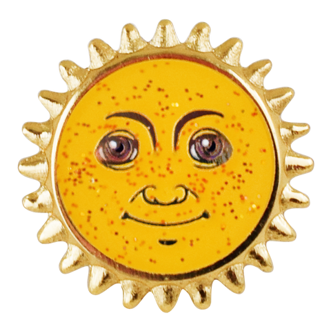 Sun Emoji Pin - Emoji Pins | Emoji Keychains | Emoji Earrings | Emoji Gifts