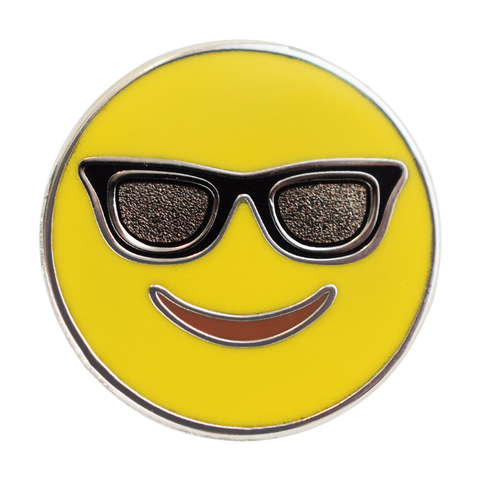 Sunglasses Emoji Pin - Emoji Pins | Emoji Keychains | Emoji Earrings | Emoji Gifts