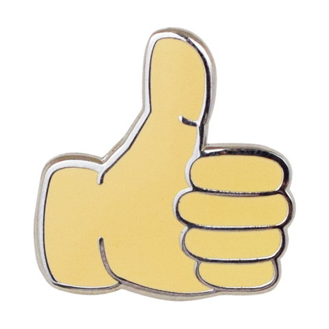 Thumbs Up Emoji Pin - Emoji Pins | Emoji Keychains | Emoji Earrings | Emoji Gifts