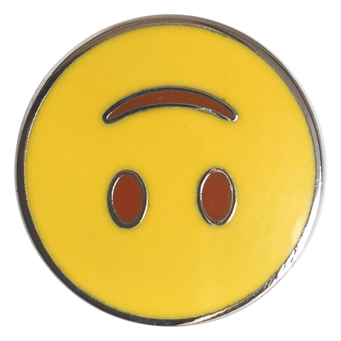 Upside Down Smile Emoji Pin - Emoji Pins | Emoji Keychains | Emoji Earrings | Emoji Gifts