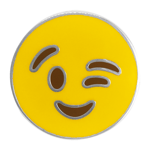 Wink Emoji Pin - Emoji Pins | Emoji Keychains | Emoji Earrings | Emoji Gifts
