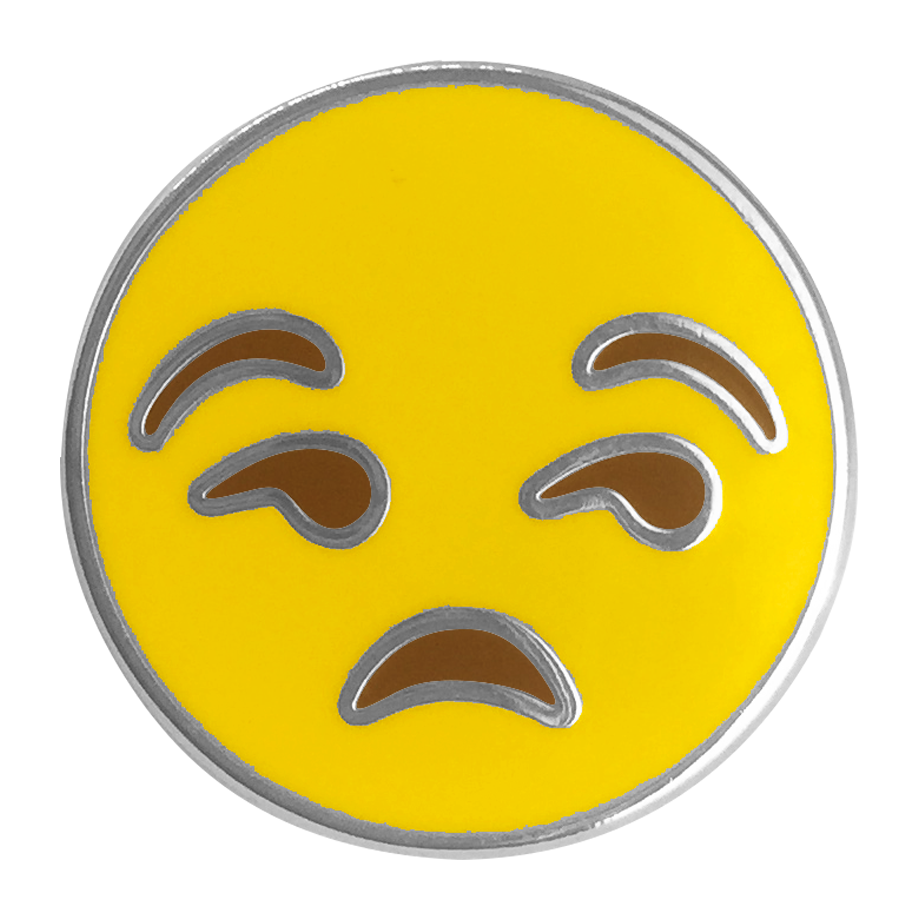 Annoyed Emoji Pin - Emoji Pins | Emoji Keychains | Emoji Earrings | Emoji Gifts