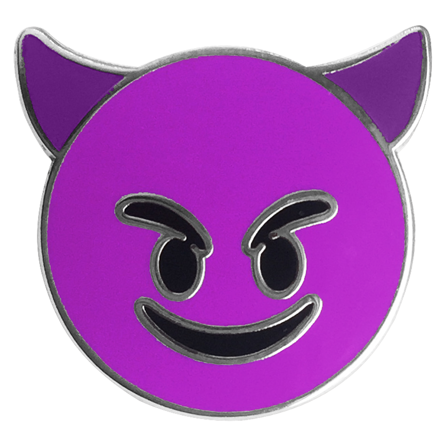 Devil Emoji Pin - Emoji Pins | Emoji Keychains | Emoji Earrings | Emoji Gifts