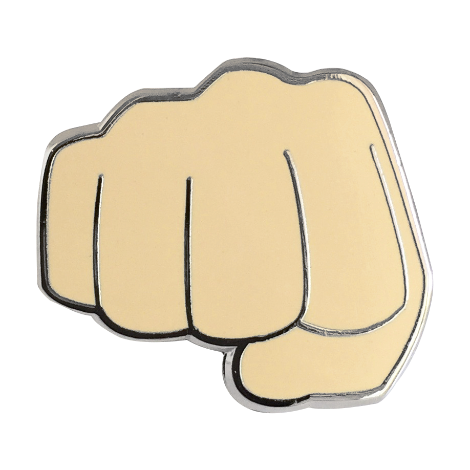 Fist Bump Emoji Pin - Emoji Pins | Emoji Keychains | Emoji Earrings | Emoji Gifts