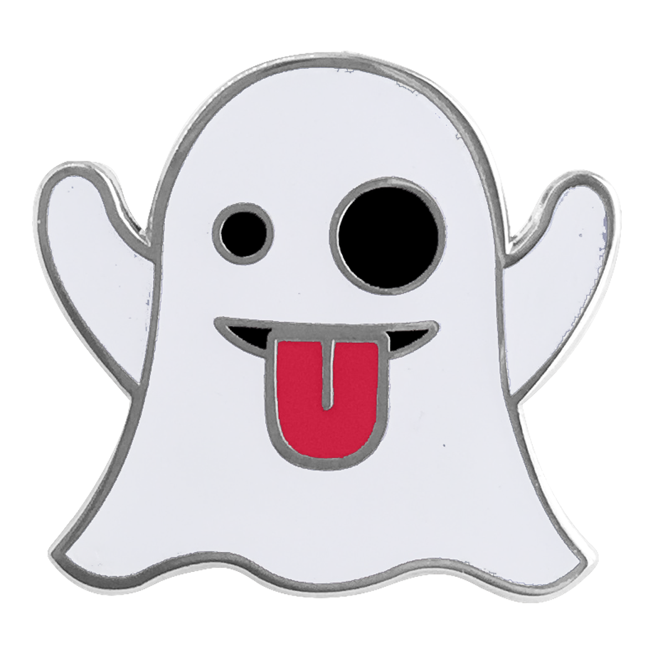 Ghost Emoji Pin - Emoji Pins | Emoji Keychains | Emoji Earrings | Emoji Gifts