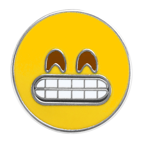 Grin Emoji Pin - Emoji Pins | Emoji Keychains | Emoji Earrings | Emoji Gifts