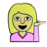 Hey Girl Emoji Pin - Emoji Pins | Emoji Keychains | Emoji Earrings | Emoji Gifts