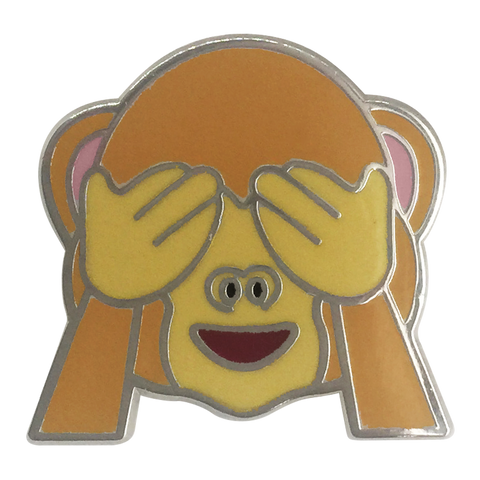 See No Evil Monkey Emoji Pin - Emoji Pins | Emoji Keychains | Emoji Earrings | Emoji Gifts