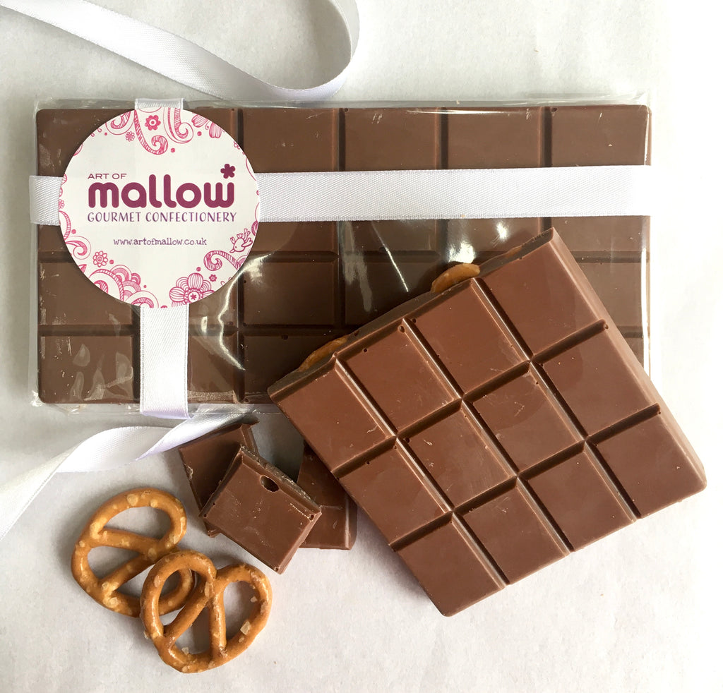 Belgian Milk Chocolate & Salted Pretzel Bar